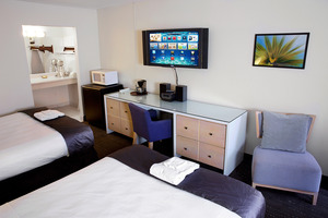 Modern Double Bed Room with Flatscreen TV